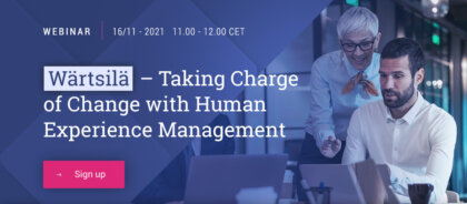 Wartsila - taking charge of change with human experience management